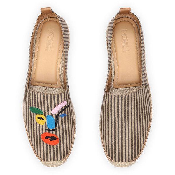 Fendi Multi Face Slip-On Espadrille ($600) ❤ liked on Polyvore featuring men's fashion, men's shoes, men's shoes slip ons, multi, mens slip on shoes, mens slipon shoes, mens woven leather slip-on shoes, mens woven shoes and fendi mens shoes