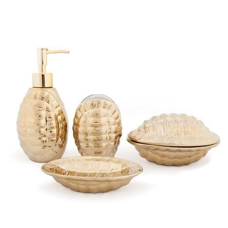 gold turtle bathroom set