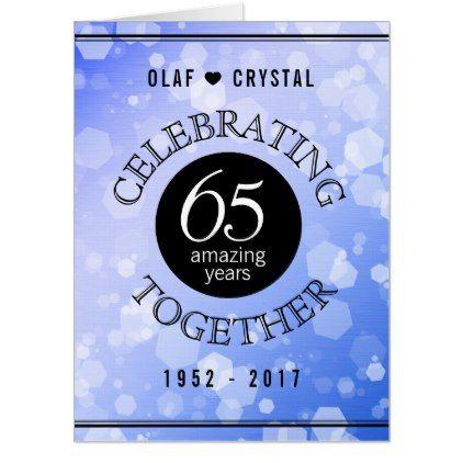 Elegant 65th Sapphire Wedd Anniversary Celebration Card - elegant wedding gifts diy accessories ideas