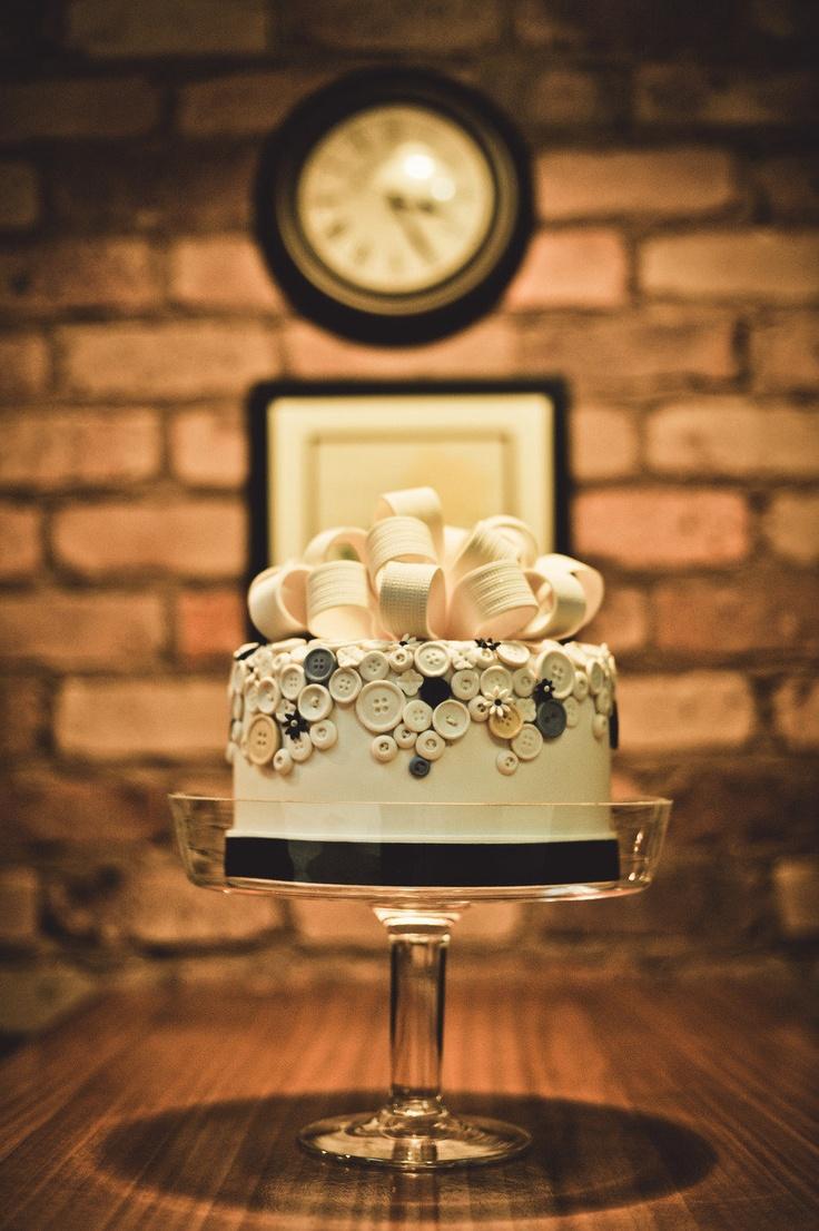 button wedding cake. Cake by Josie Staines of Brisbane, Australia.