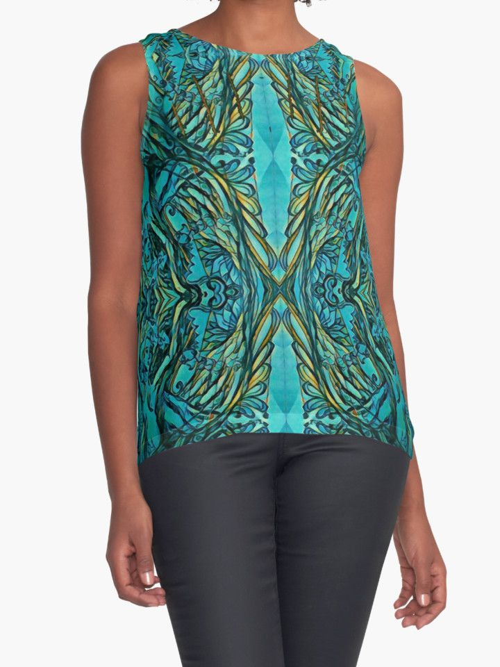 """Underwater secrets"" Contrast Tanks by tuile 