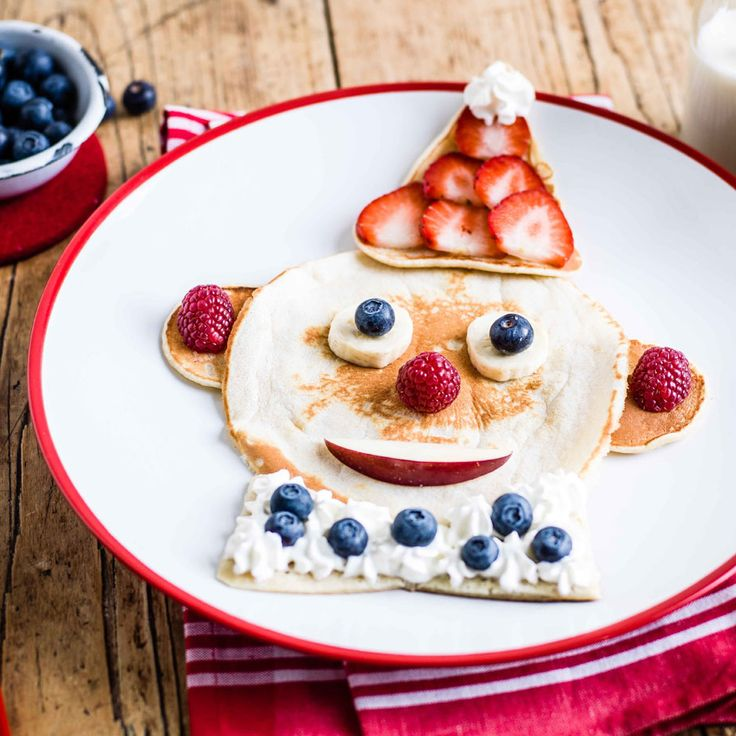 Clown around this Pancake Day and transform your pancakes into this fun circus character with a few simple and delicious decorations. | Tesco