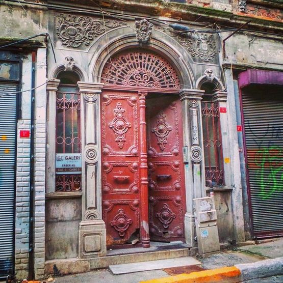 A historical touch to the city: maroon colored iron door in Galata İstanbul. & 45 best Doors and Windows images on Pinterest Pezcame.Com
