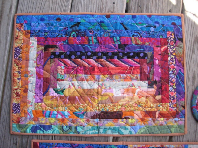 Log Cabin Style Could Be Quilt As You Go Quilts