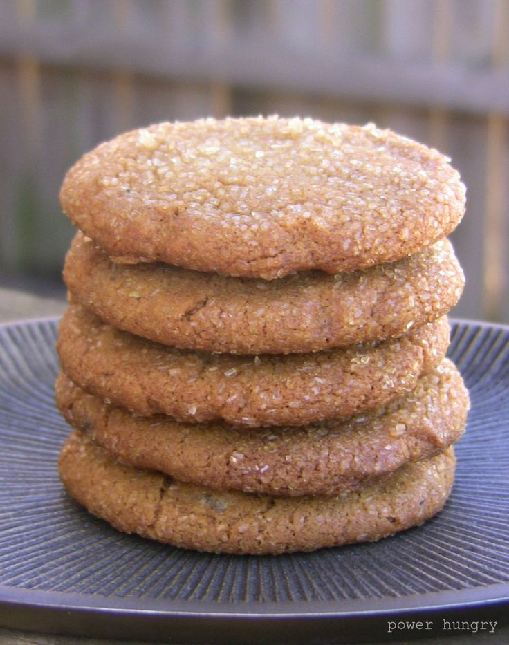 Vegan Ginger Cookies with Coconut Oil & Cardamom (GF option, too)