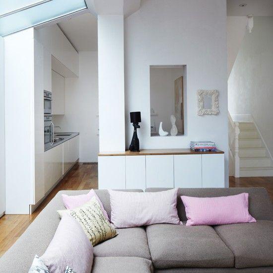 Weiß gestrafft Wohnzimmer Wohnideen Living Ideas Interiors Decoration