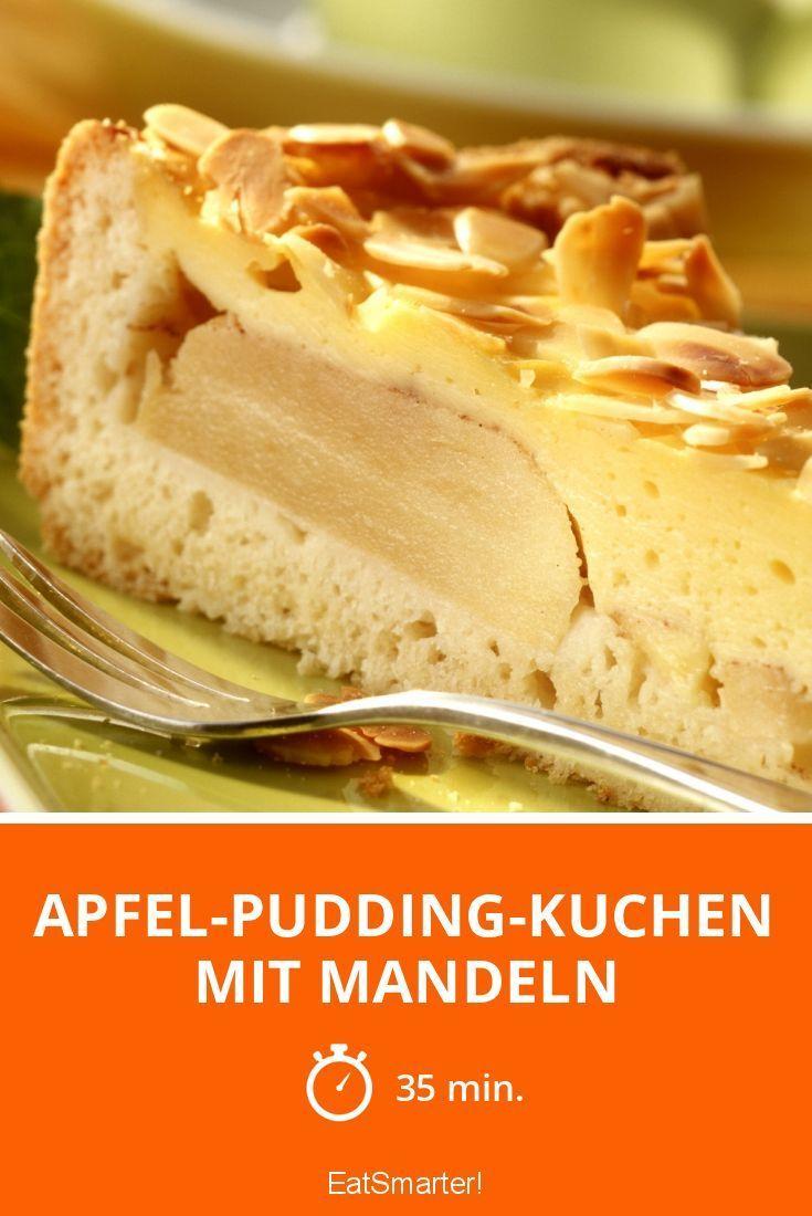 Apfel Pudding Kuchen Mit Mandeln In 2020 Apfel Pudding Kuchen Pudding Kuchen Kuchen