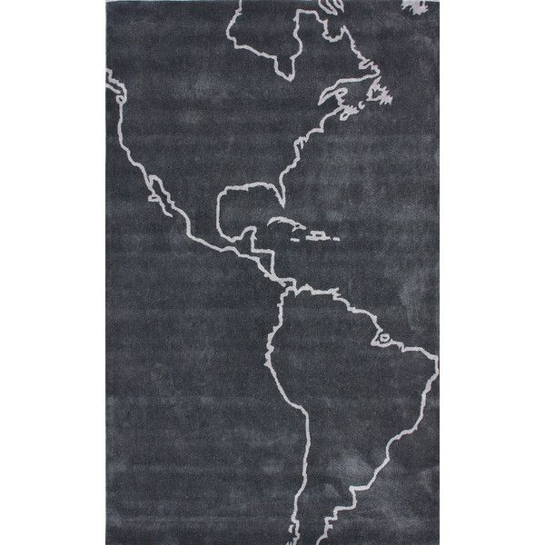 nuLOOM Cine Gray Map Novelty Outdoor Area Rug ($141) ❤ liked on Polyvore featuring home, rugs, handmade rugs, grey area rug, gray area rug, outdoor patio area rugs and grey outdoor rug
