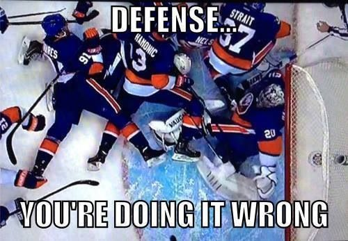 Islanders... You are doing it wrong