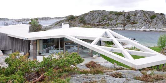 Concrete cabin, Norway.