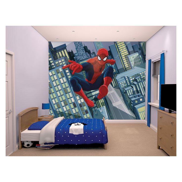 Walltastic Posterbehang Spectaculair Spiderman.Word een echte superheld met deze stoere print van Marvel's Spiderman in je slaapkamer. Het behang bestaat uit 12 stroken en kan als regulier behang aangebracht worden. De print heeft een afmeting van 305 bij 244 cm. Afmeting: ca. 305 x 244 cm - Walltastic Posterbehang Spectaculair Spiderman