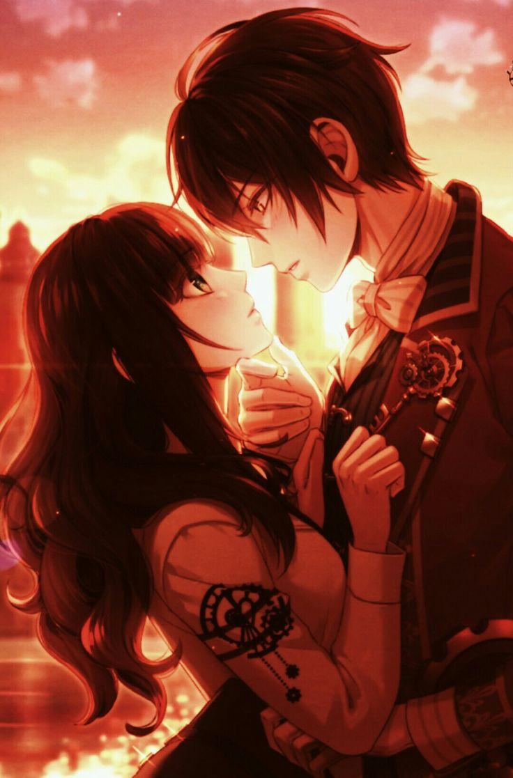 Картинки парней с девушками аниме любовь