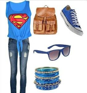 Superman outfit #blue ~Teenage Fashion~