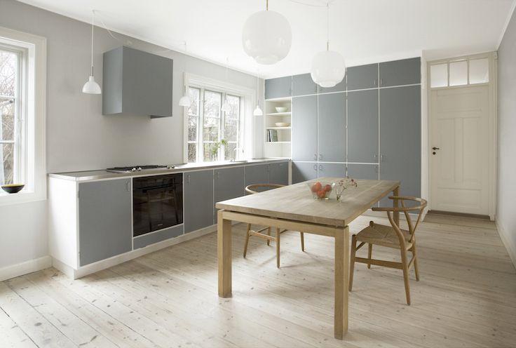 1960 mid-century modern. Custom retro wood work. Kitchen. Snedkerkøkkenet Taarbæk Strandvej