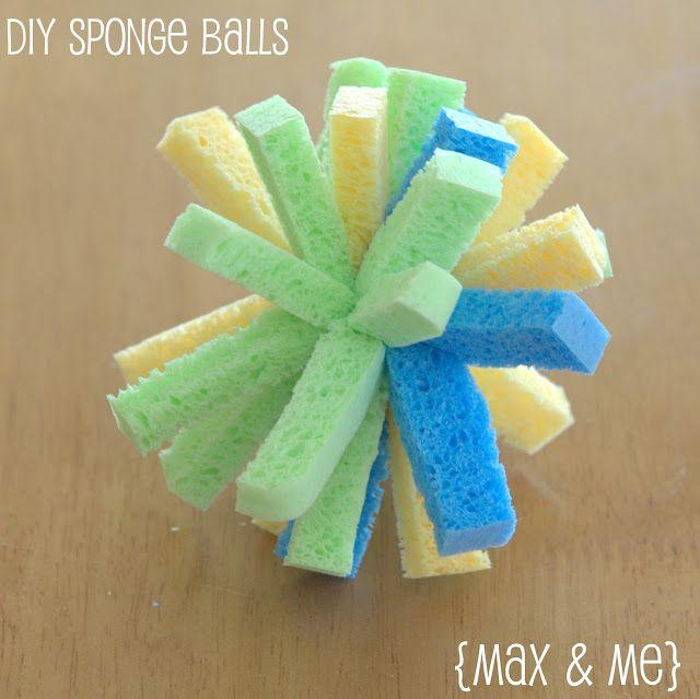 Max and Me: DIY Sponge Balls