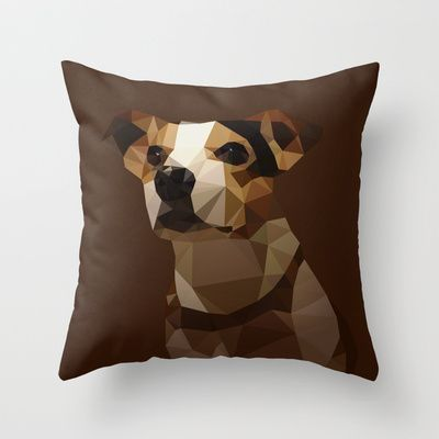 Bucci the Dog Throw Pillow by Matěj Kašpar Jirásek - $20.00