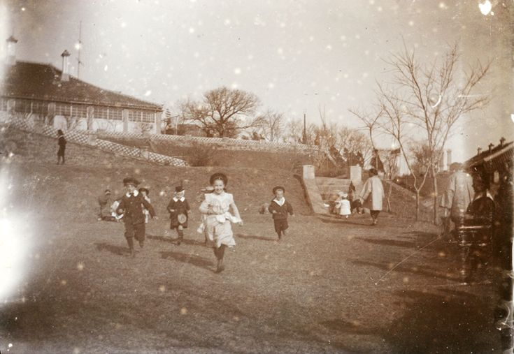 Egg and spoon race, Chefoo, Easter 1902