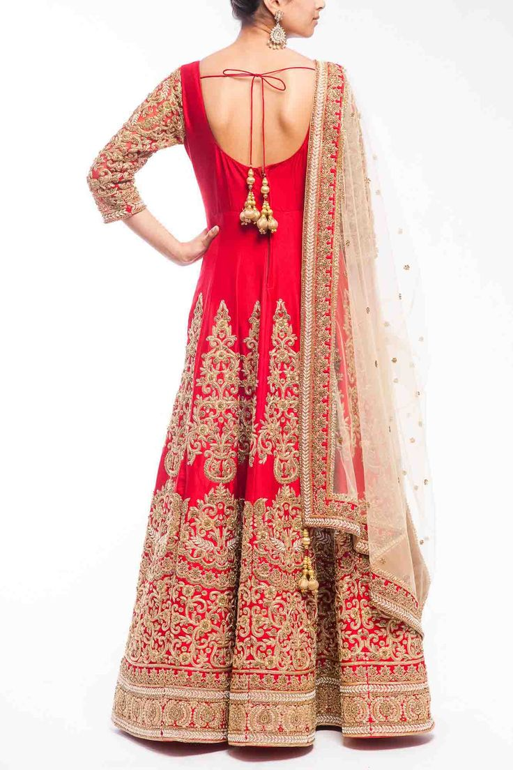 Hand Embroidered Anarkali