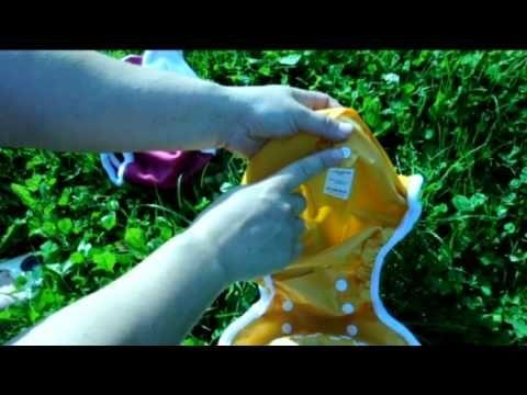 ▶ Bamboolik látková plena AIO a svrchní kalhotky - YouTube