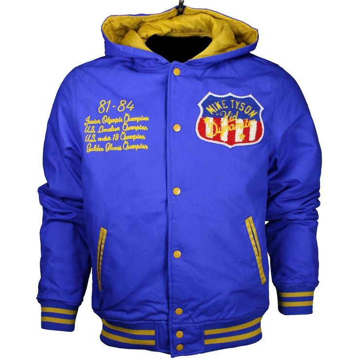 Roots of Fight Mike Tyson Kid Dynamite Cotton Canvas Quilted Jacket