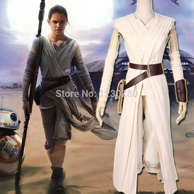 65.99$  Buy here - 2015 New Movie Star Wars7 The Force Awakens Rey Cosplay Costume Outfit Full Set Halloween Cosplay Costumes For Women Any Size   #aliexpress