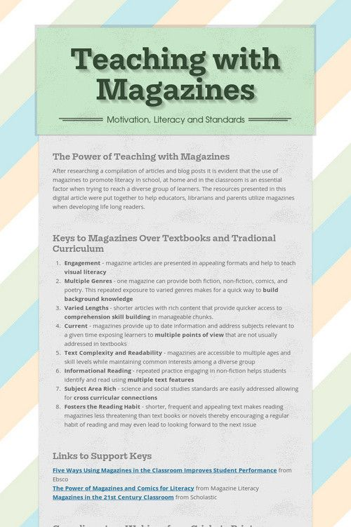58 best images about Magazines for Literacy on Pinterest ...