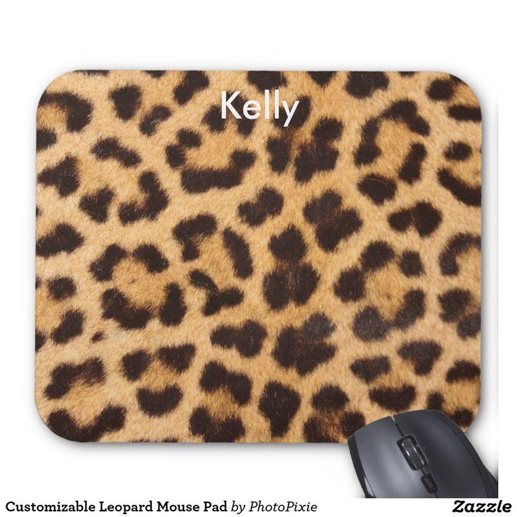 Customizable Leopard Mouse Pad
