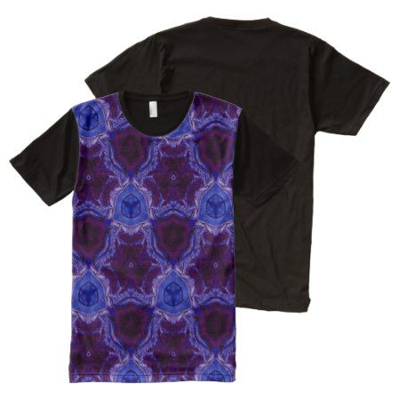 blue abstract pattern All-Over-Print T-Shirt - tap, personalize, buy right now!