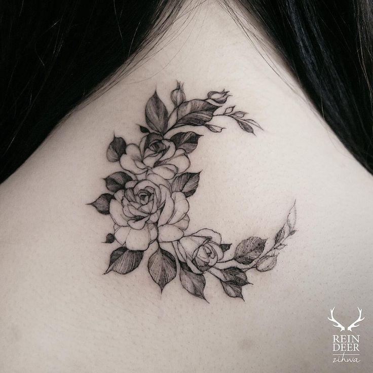 zihwa_tattooer on instagram  rose moon