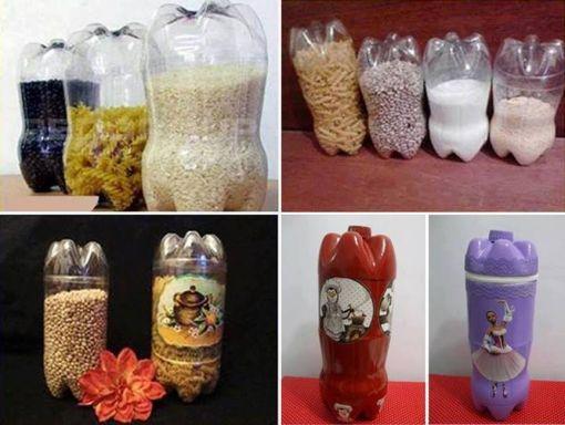 DIY δοχεία για την κουζίνα σας από πλαστικά μπουκάλια