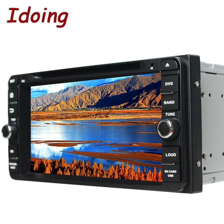 Idoing 2Din Android Steering-Wheel Fit Toyota Universal Car Multimedya Radio Automotivo DVD Player Bluetooth Navi Audio TV