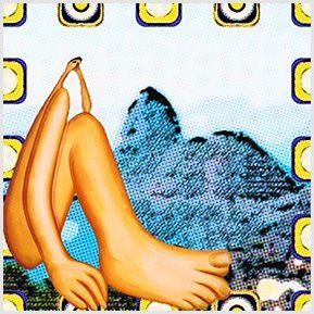 Abaporu e o Pão de Açúcar - Quadrinhos confeccionados em Azulejo no tamanho 15x15 cm.Tem um ganchinho no verso para fixar na parede. Inspirado em Pinturas. Para entrar em contato conosco, acesse: www.babadocerto.com.br
