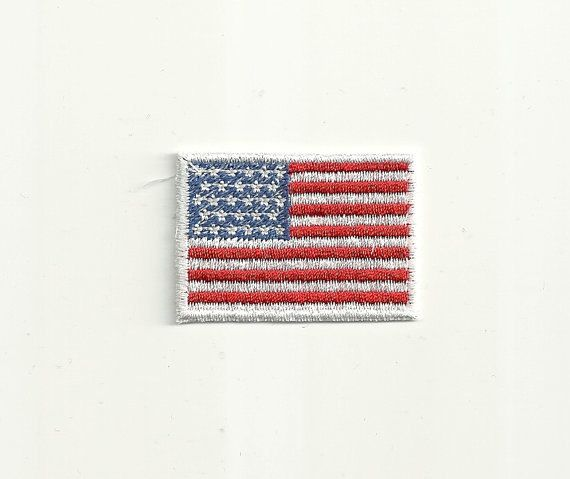 Tiny American Flag Patch by WondersofWorlds on Etsy, $1.99