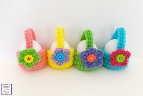Fiber Flux: Free Crochet Pattern...Little Egg Basket