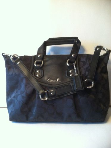 COACH ASHLEY SIGNATURE SATCHEL  retail 298.00 on sale for $159.00 pn blomming.com/mm/giaconisboutique/itmes