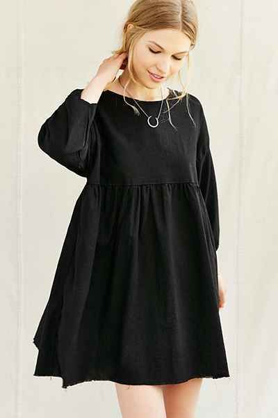 Urban Renewal Remade Ruffle Babydoll Tunic Dress - Urban Outfitters
