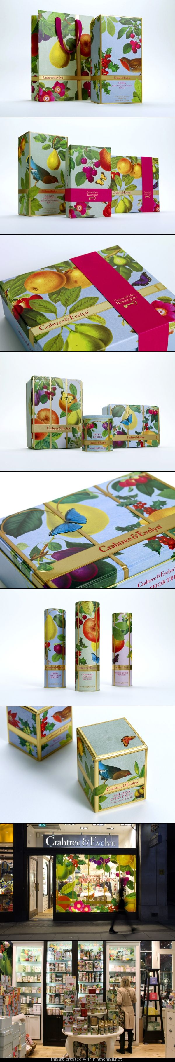 Awesome #packaging #branding at #Christmas curated by Packaging Diva PD created via http://www.nbstudio.co.uk/our-work/crabtree-evelyn-christmas