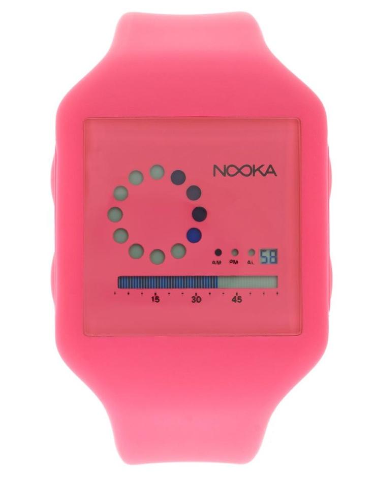 Nooka Neon Pink PU Watch by Nooka