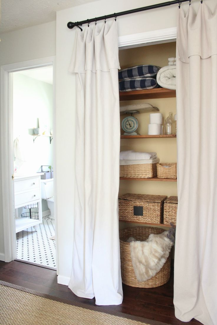 Small closet doors the small utility closet - Create A New Look For Your Room With These Closet Door Ideas