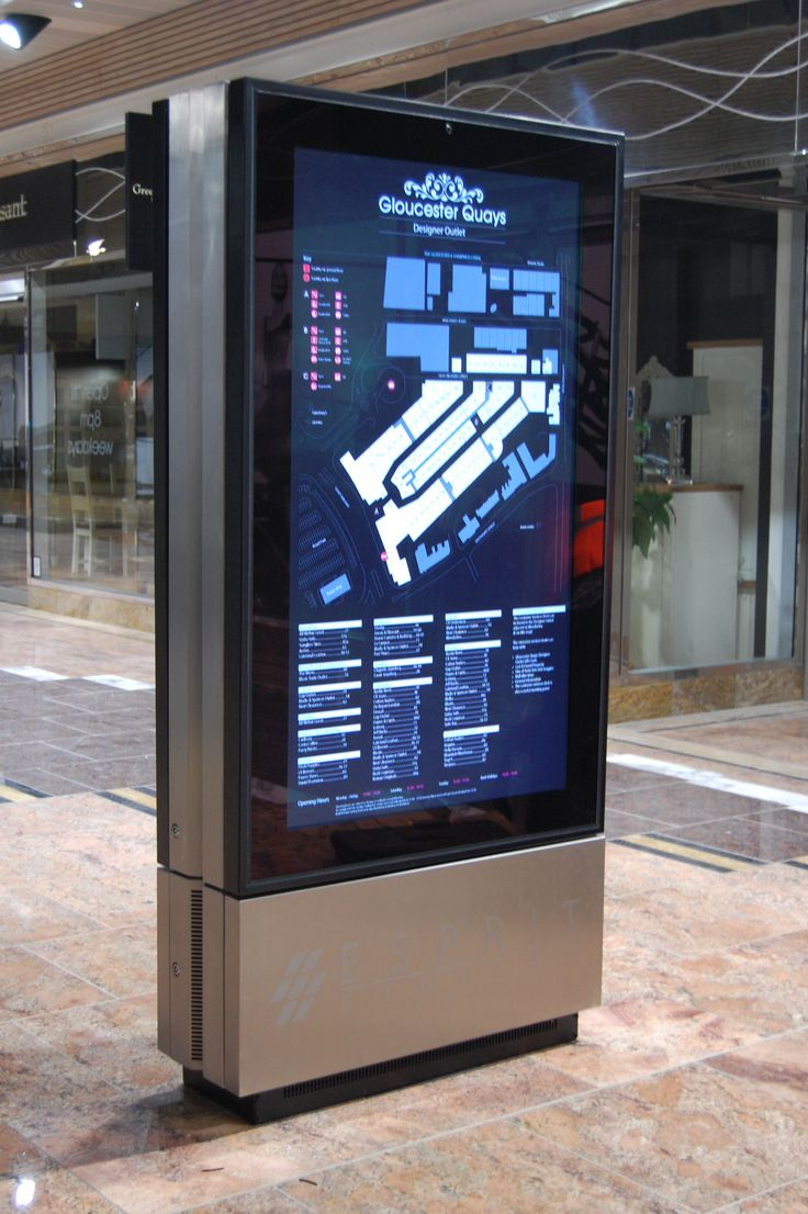For the busy retail centre, Gloucester Quays we created a touch screen WayFinder solution to help shoppers locate services and outlets. A 3D map of the centre was creating along side our programming team to ensure that user could easily navigate around it.   Live updates are made through RSS feeds and shoppers can check the balance of their loyalty cards.  Great!