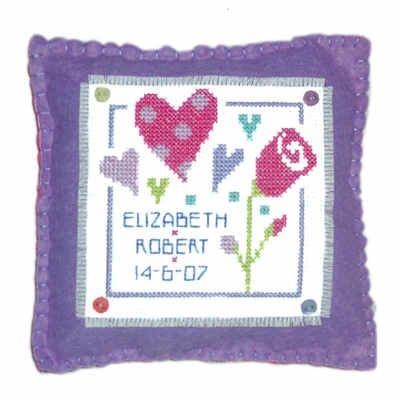 Wedding or Anniversary - Love Cross Stitch Cushion