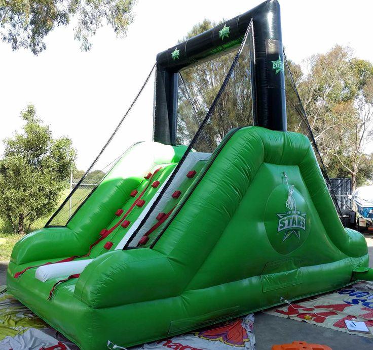 Cricket fan engagement , inflatable climb n Slide challenge