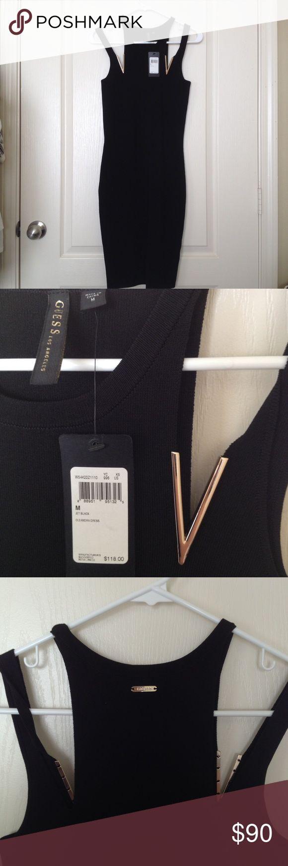 NWT Guess dress size m black NWT Guess dress size m black new with tags Guess Dresses
