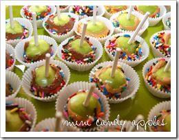 Mini Candy Apples -- use a melon baller