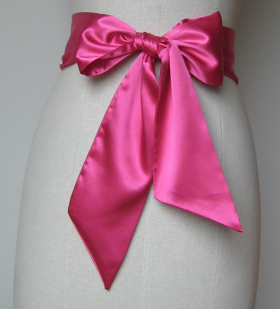Pink Wedding Dress Sash : Wedding dress hot pink sash flower girl dresses