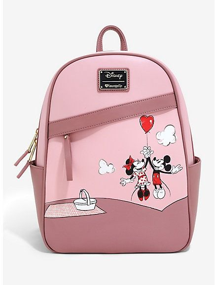0fd0f4c6278 Loungefly Disney Mickey Mouse And Minnie Mouse Balloon Mini Backpack - BoxLunch  Exclusive