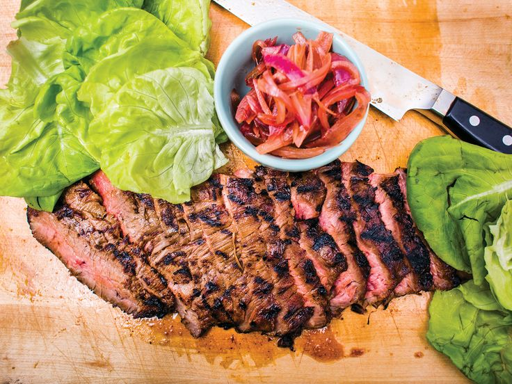 Grilled Flank Steak with Coca-Cola-Pickled Onions