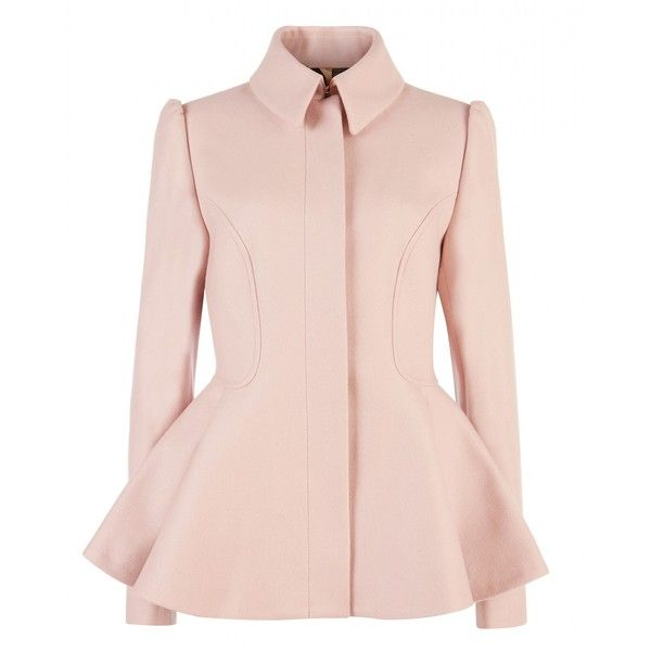 Ted Baker SOLLEL - Short peplum coat ($395) found on Polyvore