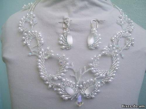 Картинки по запросу бисер свадебные украшения схемы