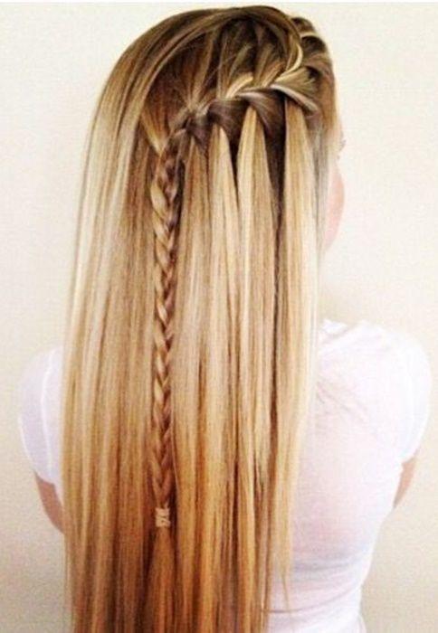 ¡Mira estos hermosos y sencillos peinados  para cabello largo! #HairStyle …